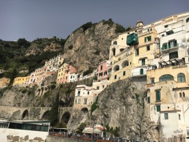 View of houses in Positano