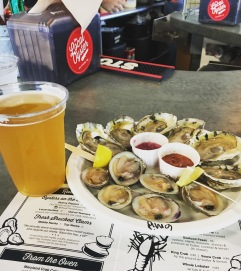 The Raven beer + Oysters and Clams