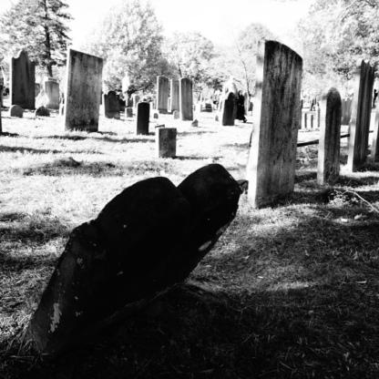 Old headstones in Sleepy Hollow Cemetery