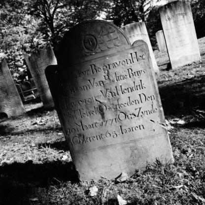 Headstone in Sleepy Hollow Cemetery