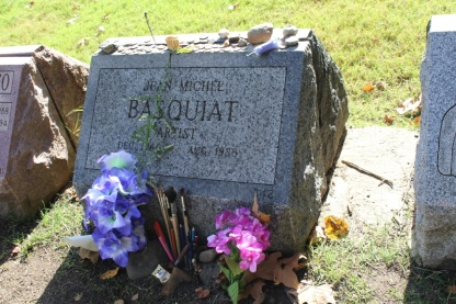 Headstone of Jean-Michel Basquiat; Greenwood Cemetery