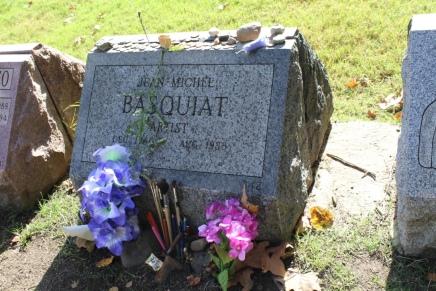 Headstone of Jean-Michel Basquiat; Greenwood Cemetery