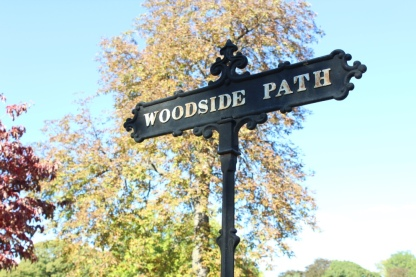 Path sign at Greenwood Cemetery