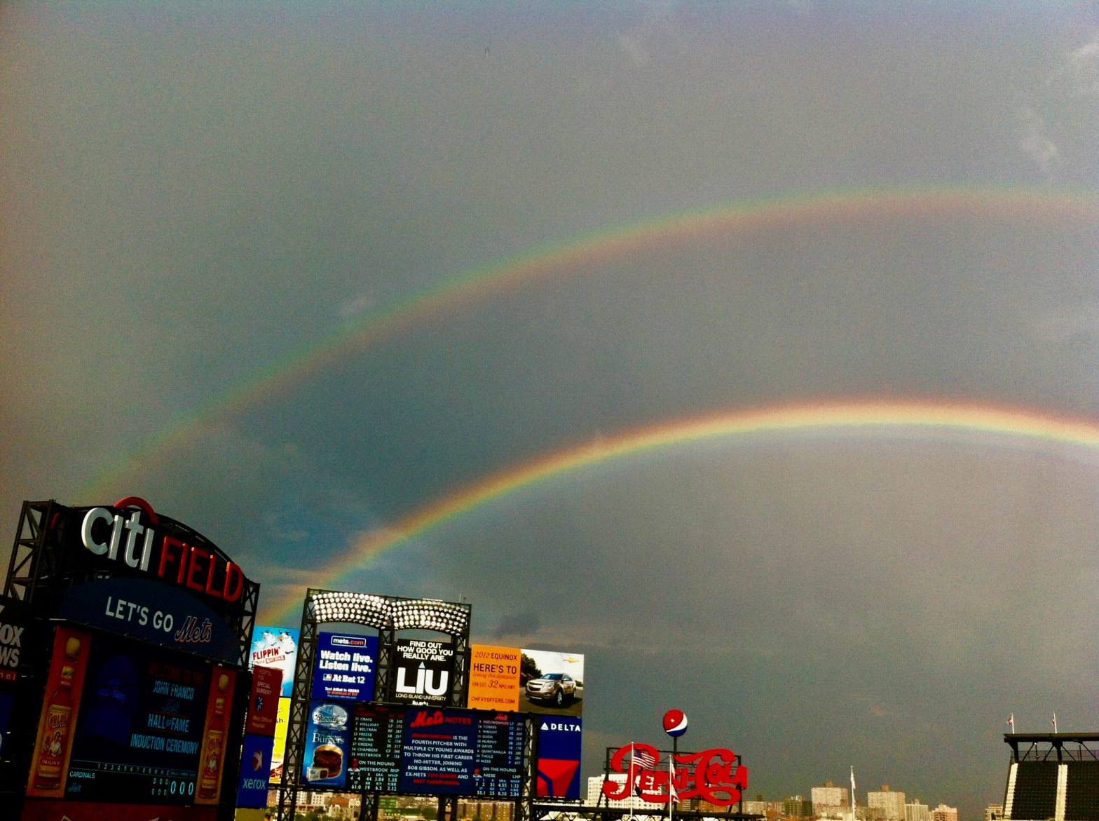 Double Rainbow Citi Field