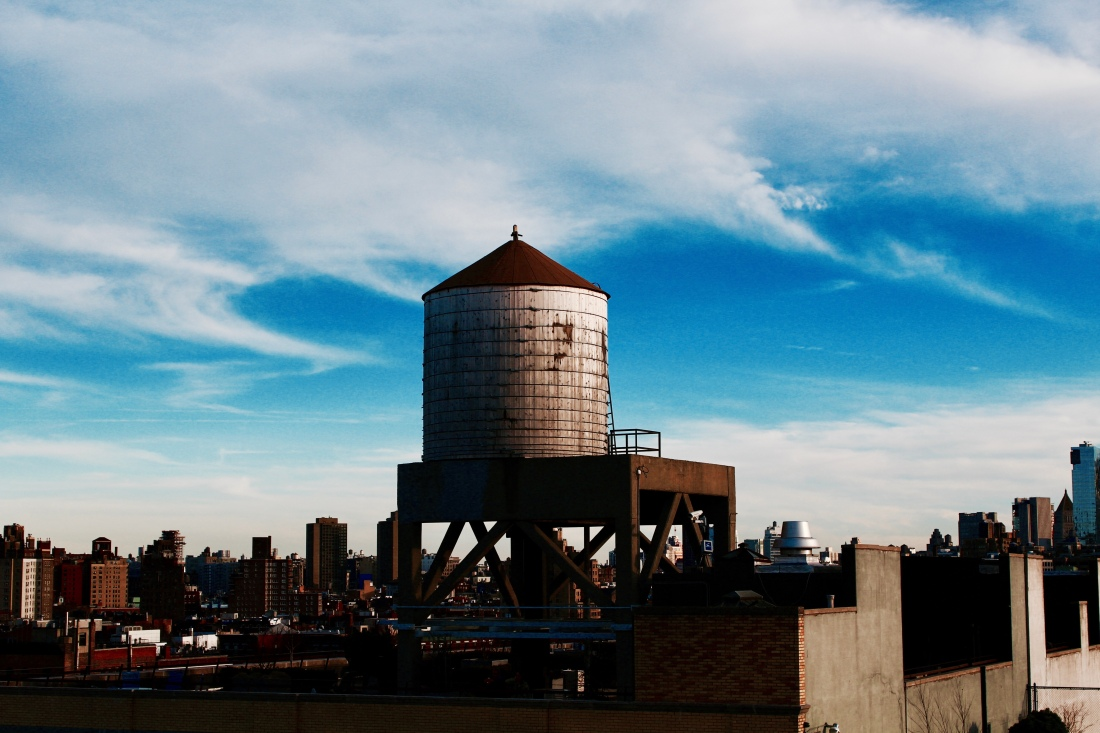 NYC water tower