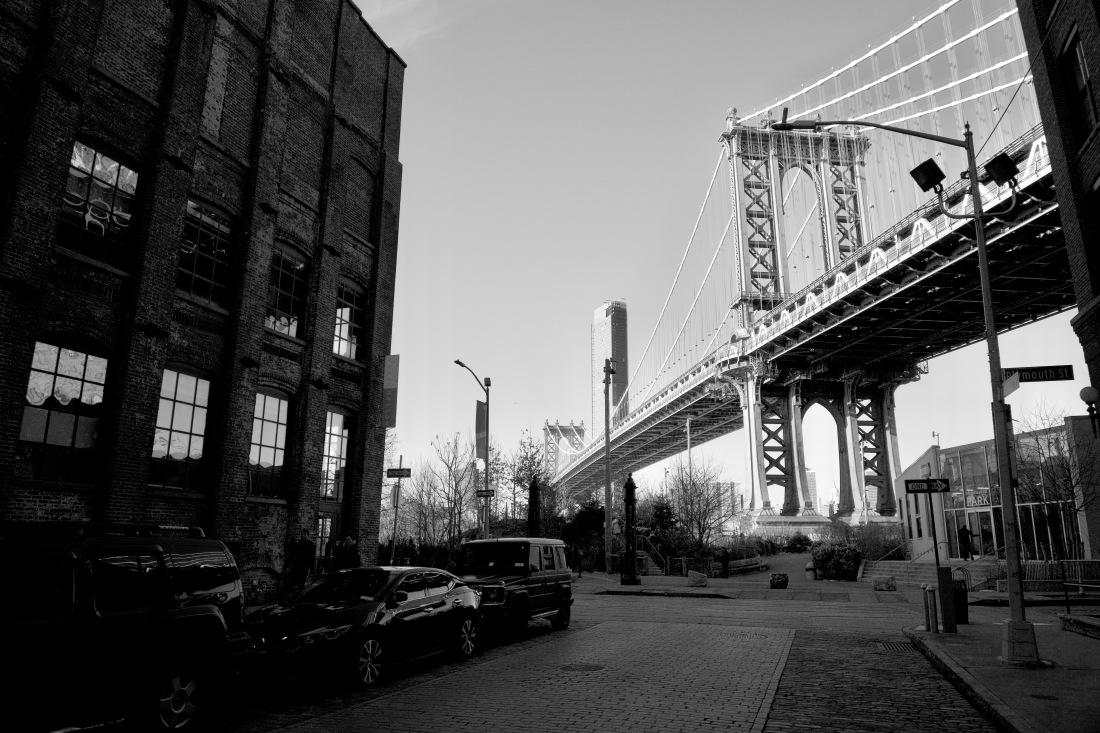 Manhattan Bridge as seen from DUMBO