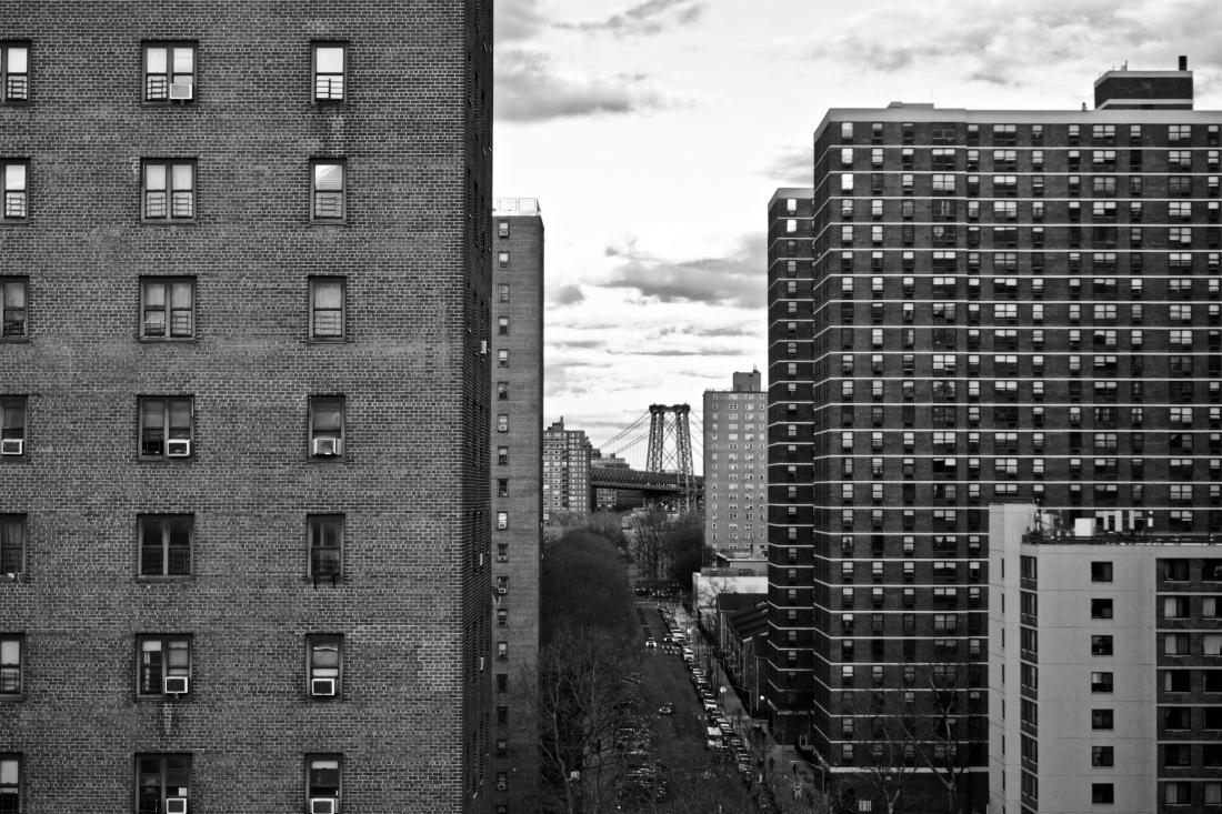 Williamsburg Bridge seen from Manhattan Bridge