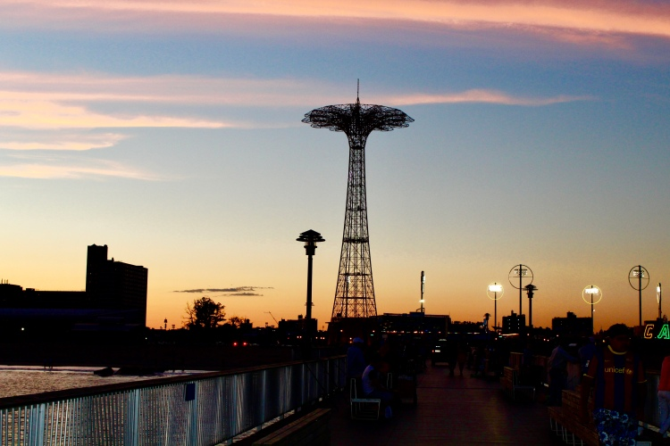 Cotton candy sunset - Coney Island, Brooklyn