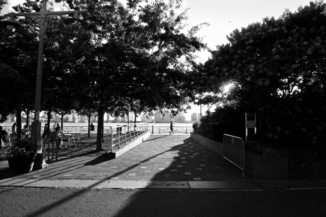 Jogging along West Street
